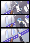 駅のホームで猫を見つける五月雨