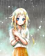 雨の中のONEちゃん
