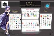 MMD Super Library PRO - 日本語 例え:モデル