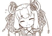 お題箱:きりたんの包丁と琴葉姉妹の髪飾りとずん子の枝豆カチューシャ付けたゆかりさん 文字なし
