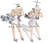 グレカーレ【MMD艦これ改造モデル】比較(R1N4+mitsuchぽんぷ長式改変)