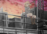 孤独な少女は黄昏れ町を俯瞰する