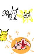 【GIFアニメ】10まんボルト【ポケモン】ラフ&リメイク