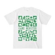 シンプルデザインTシャツ GAME MONSTER(GREEN)