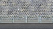 道路フェンス護岸壁