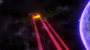 ガイデロール級航宙戦艦シュヴァリエル 陽電子ビーム砲塔と近接防御火器
