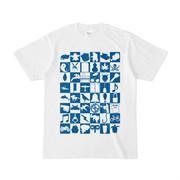 シンプルデザインTシャツ Spur_48(BLUE)