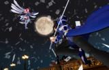 夜空のカードマジック