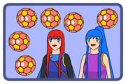 切頂二十面体と少女2