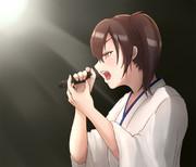 歌ってる加賀さん