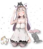 猫と猫耳少女