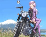 富士山とバイクとゆかりさん
