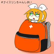 ぼうさいかばんにいれられてるリン