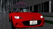 雨の日のオープンカー