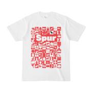 シンプルデザインTシャツ Spur76(RED)