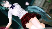 【MMD】制服ミクでアゲアゲ体操02【モバイル推奨動画】