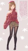 女の子のこういうファッション大好き ニット