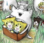 猫艦娘拾いの深海浮き輪さん