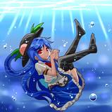お題から「水中ニーソ天子ちゃん」