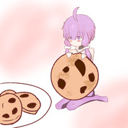 クッキーを食べるミニゆかりさん