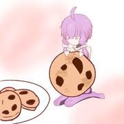クッキーを食べるゆかりさん(表情違い)