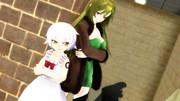 親子揃って腕組決めポーズ!【Fate/MMD】