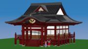 【Blender】だいたい完成神社【東方】