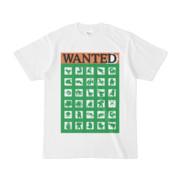 シンプルデザインTシャツ WANTED MONSTER(GREEN)