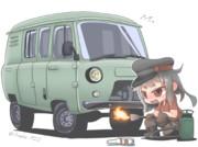 車が動かないのでロシア流のエンジンの始動法を伝授するガングート