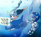 ダイビング()あかり&ウナ