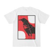シンプルデザインTシャツ 烏に二白