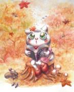 ミーコちゃんと読書の秋