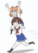 マロンちゃんとクロちゃん