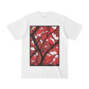 シンプルデザインTシャツ 枯れ木に白
