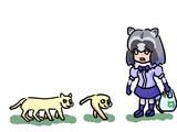 アライさん×猫。