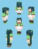 【Minecraft】東北ずん子:ウェイトレス?衣装【Alex】