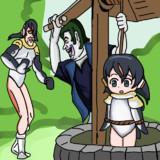 吊されたかばんちゃんを助けるキュルル