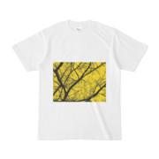 シンプルデザインTシャツ 枯れ木黄