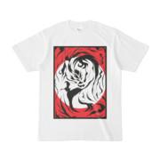 シンプルデザインTシャツ 龍に月