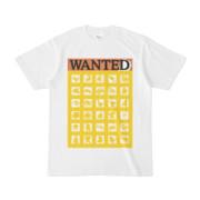 シンプルデザインTシャツ WANTED MONSTER(YELLOW)