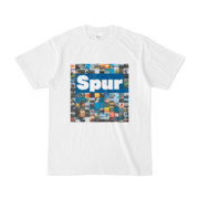 シンプルデザインTシャツ Spur_BOX104(BLUE)