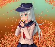 焼き芋食べる響