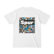 シンプルデザインTシャツ Spur_BOX104(BLACK)