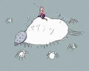 蜘蛛に怯える鈴原るる