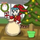 もうクリスマス気分なツチノコサンタ