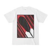 シンプルデザインTシャツ 白円にアメリカンドッグ