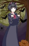 「鴉が詠い……詠い……黒猫がにゃんと鳴くわ!」