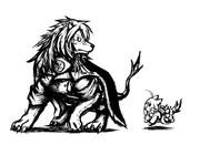 武蔵ライオンと清霜猫