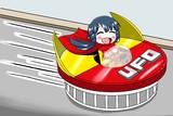 ヤキソバンカートを運転する北上麗花さん