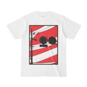シンプルデザインTシャツ 標に白線